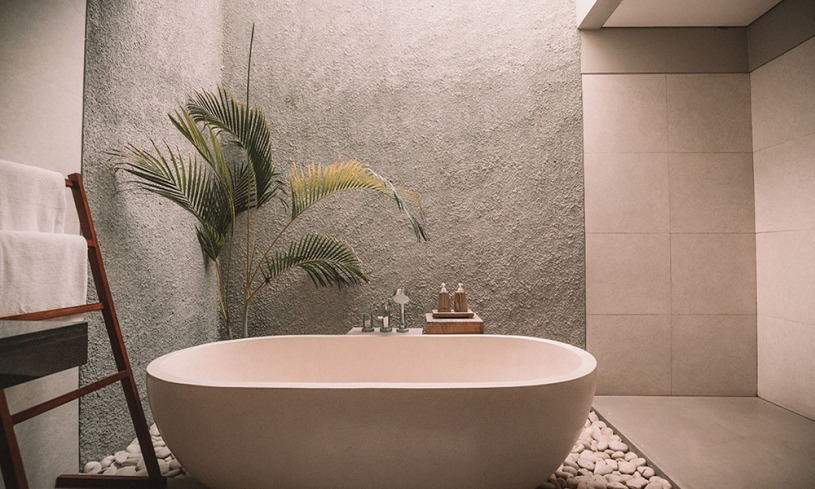 Modern eco-friendly and sustainable bathroom remodel idea