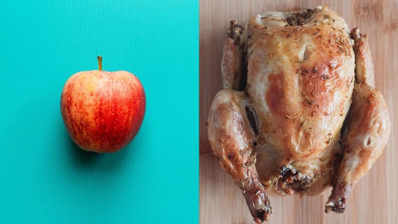 Apples vs chicken nutrition health benefits
